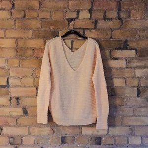 Free people pink/peach sweater